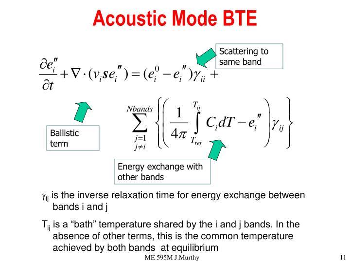 Acoustic Mode BTE