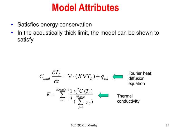 Model Attributes