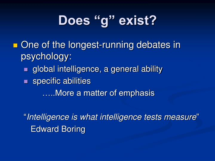 Does g exist