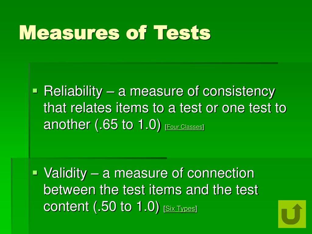 Measures of Tests