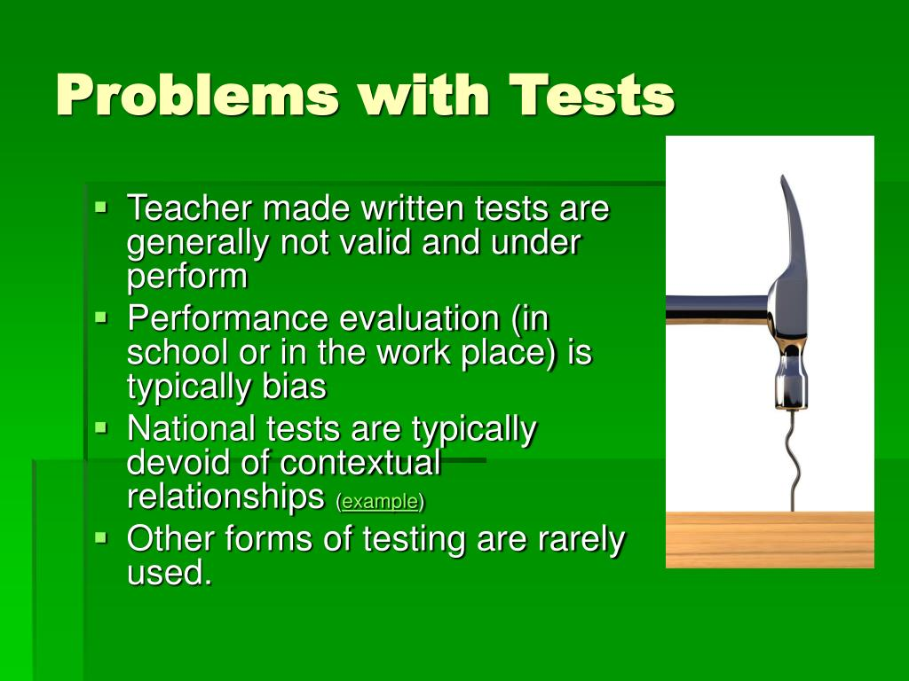 Problems with Tests