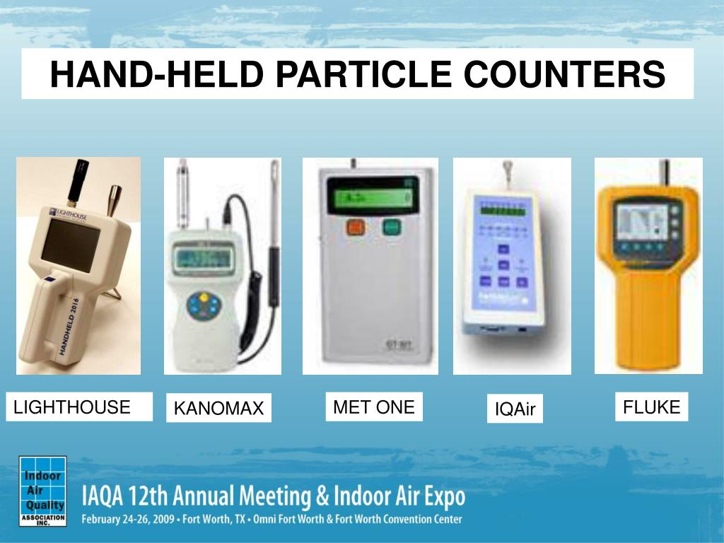 HAND-HELD PARTICLE COUNTERS