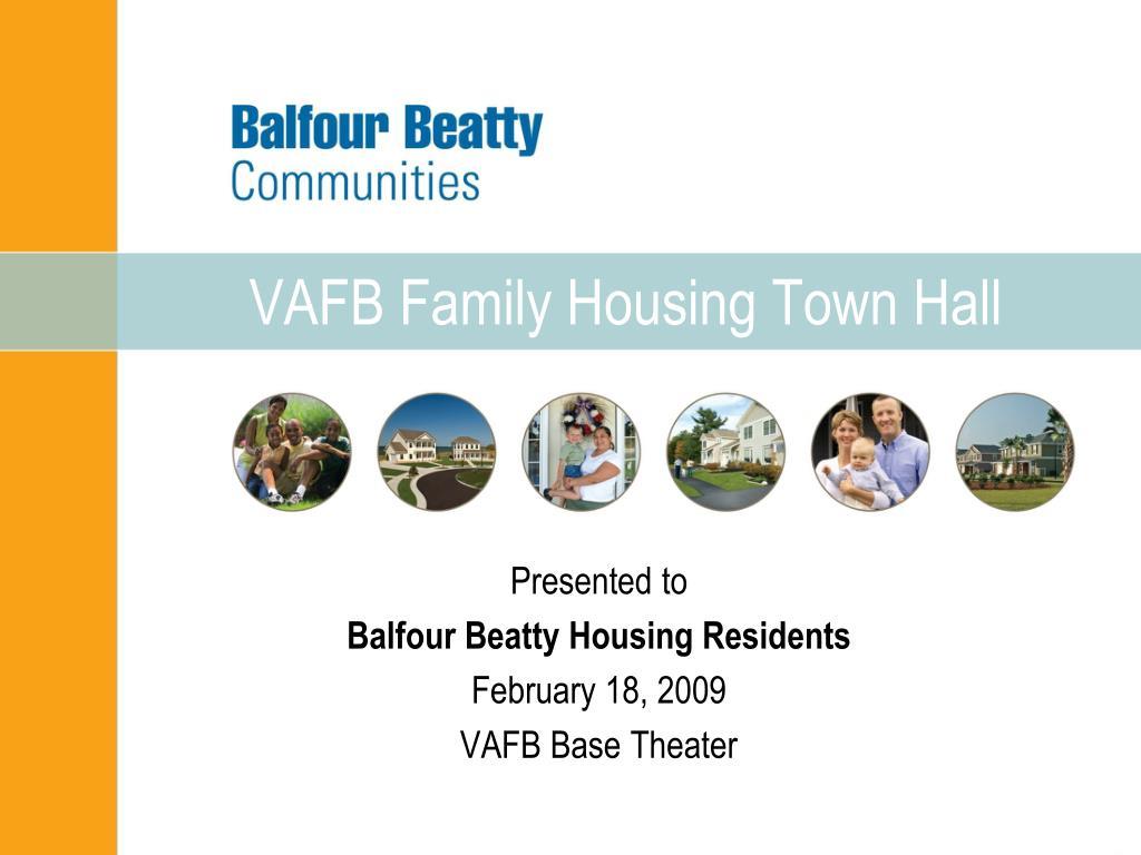 vafb family housing town hall l.