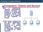 computers clients and servers