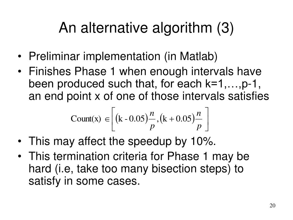 An alternative algorithm (3)