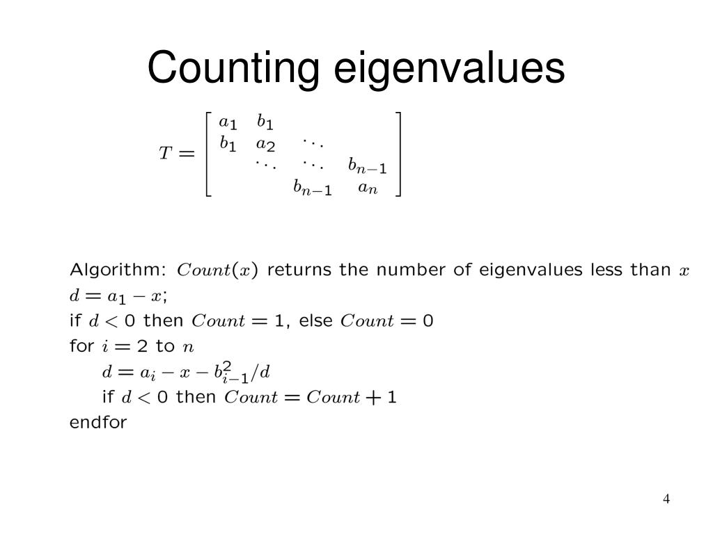 Counting eigenvalues