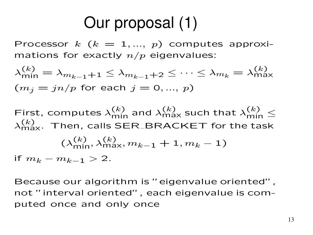 Our proposal (1)