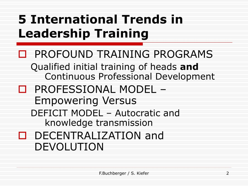 5 International Trends in Leadership Training
