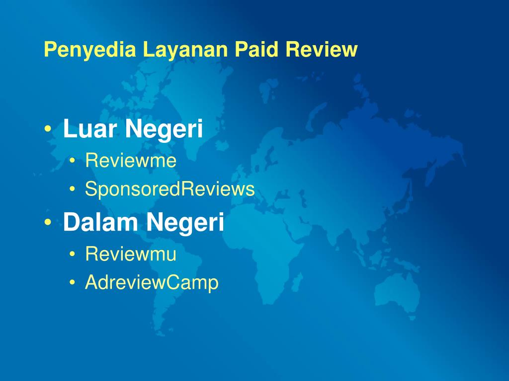 Penyedia Layanan Paid Review