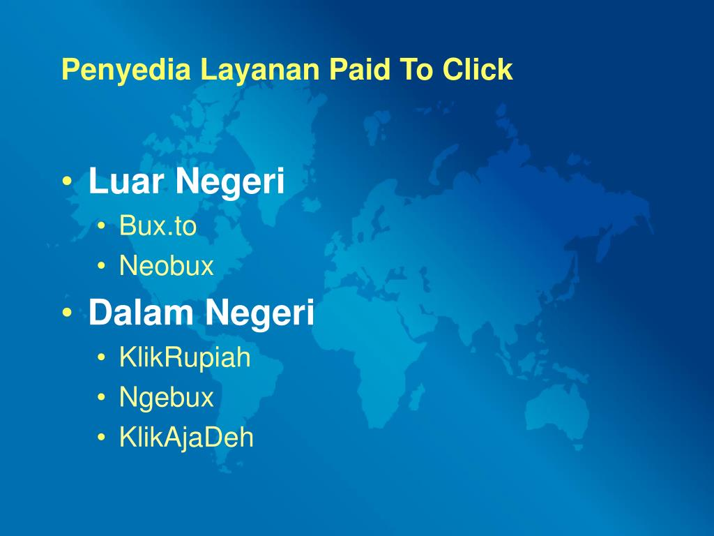 Penyedia Layanan Paid To Click