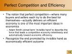perfect competition and efficiency14