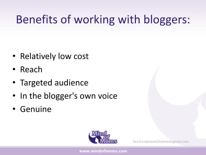 Benefits of working with bloggers