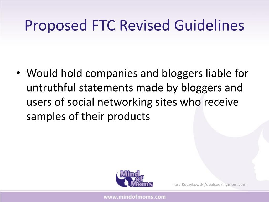 Proposed FTC Revised Guidelines