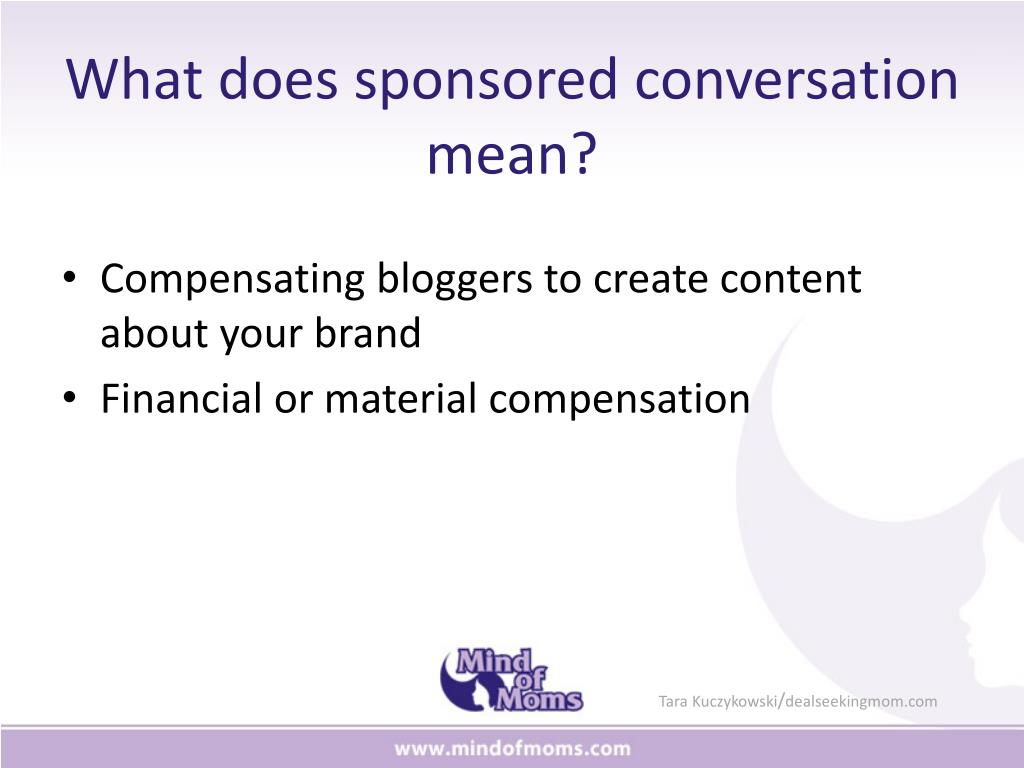 What does sponsored conversation mean?