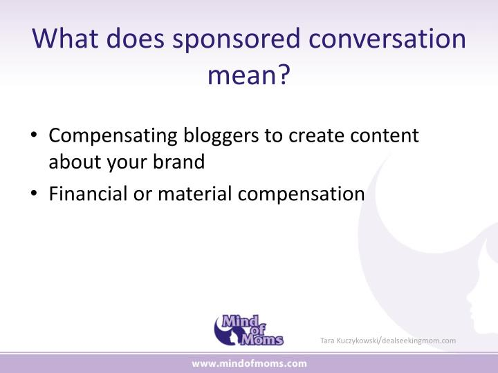 What does sponsored conversation mean