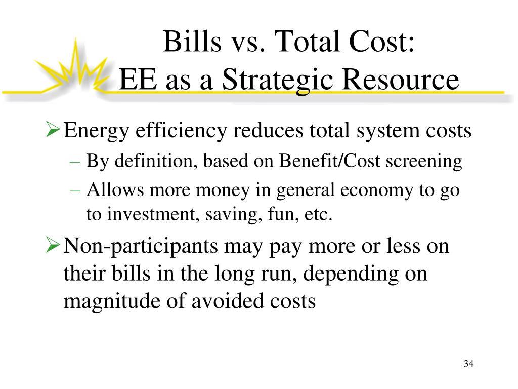 Bills vs. Total Cost: