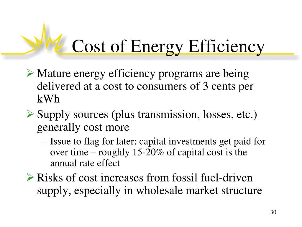 Cost of Energy Efficiency
