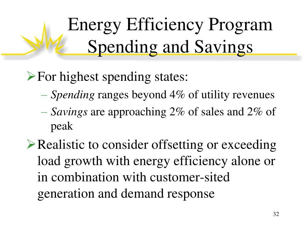 Energy Efficiency Program Spending and Savings