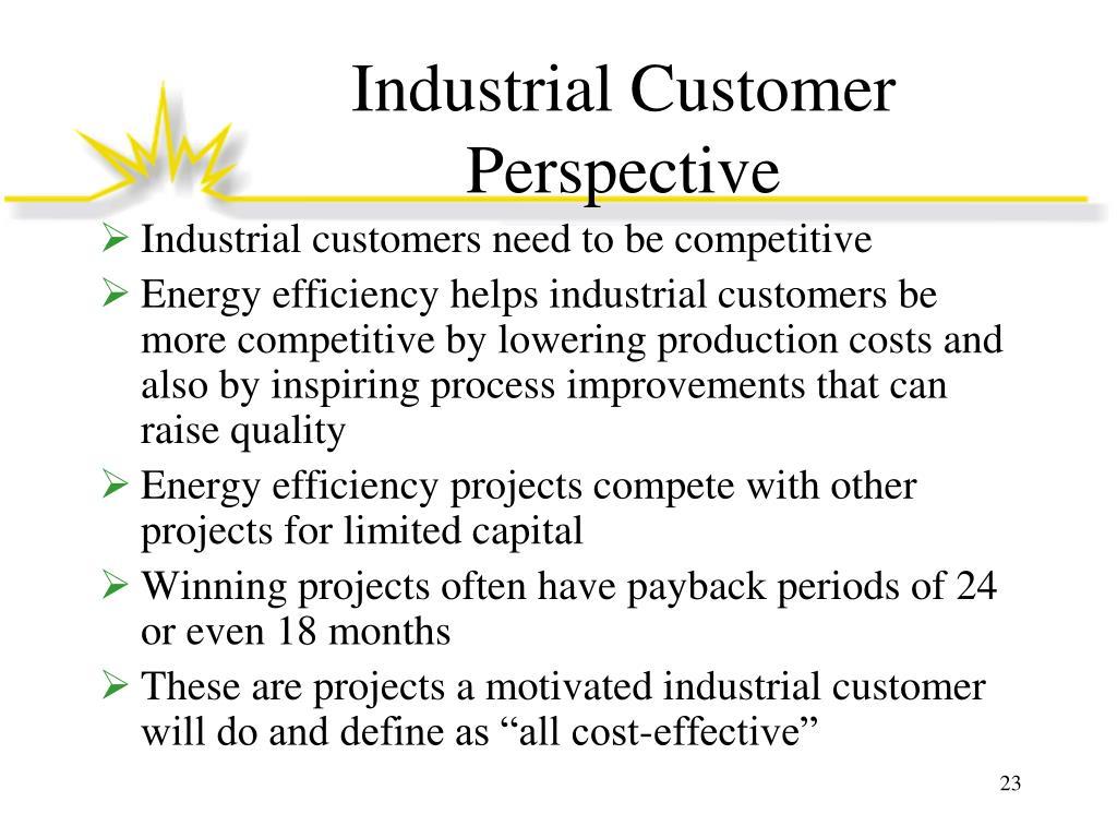 Industrial Customer Perspective