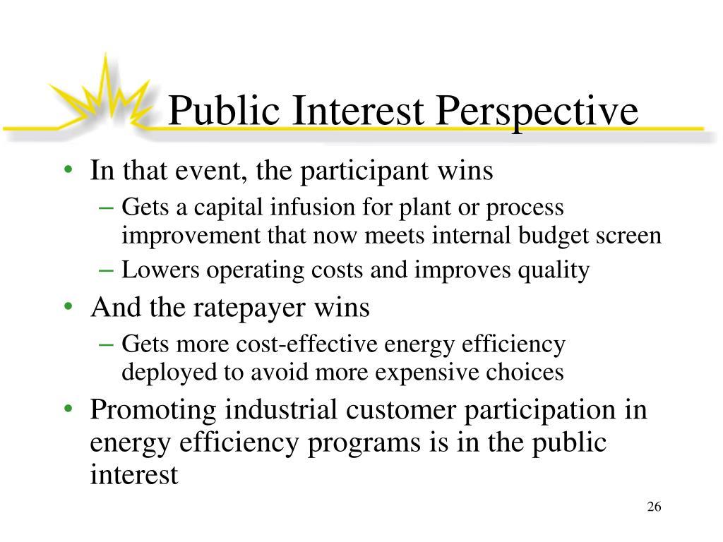 Public Interest Perspective