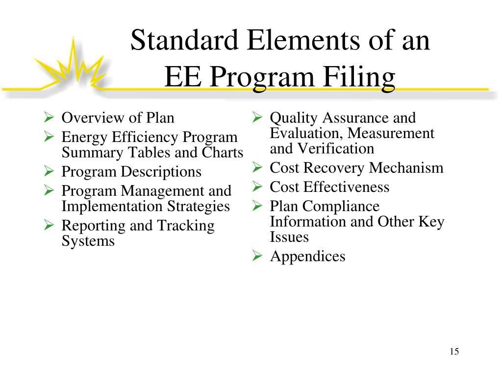 Standard Elements of an