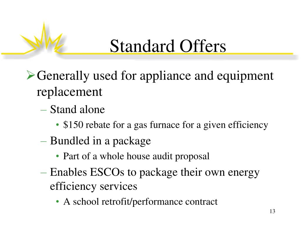 Standard Offers