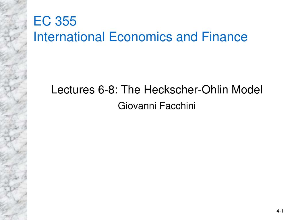 ec 355 international economics and finance l.