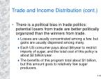 trade and income distribution cont