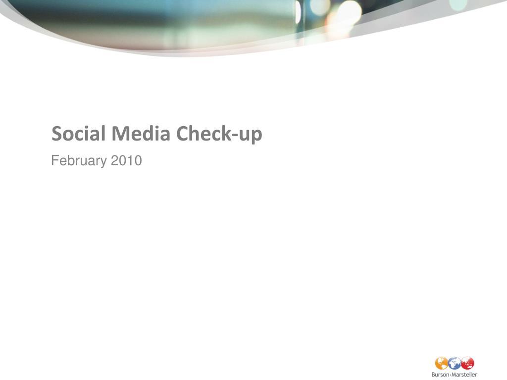 social media check up l.