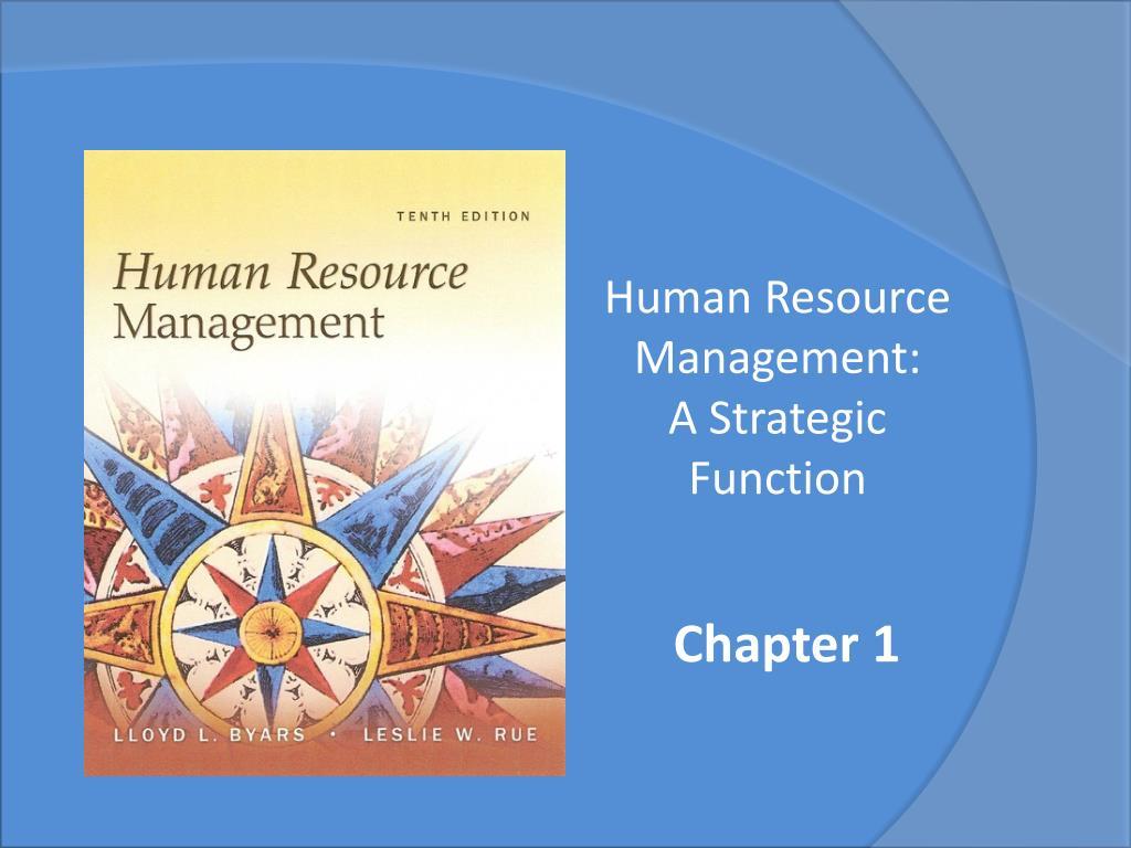 human resource management a strategic function l.
