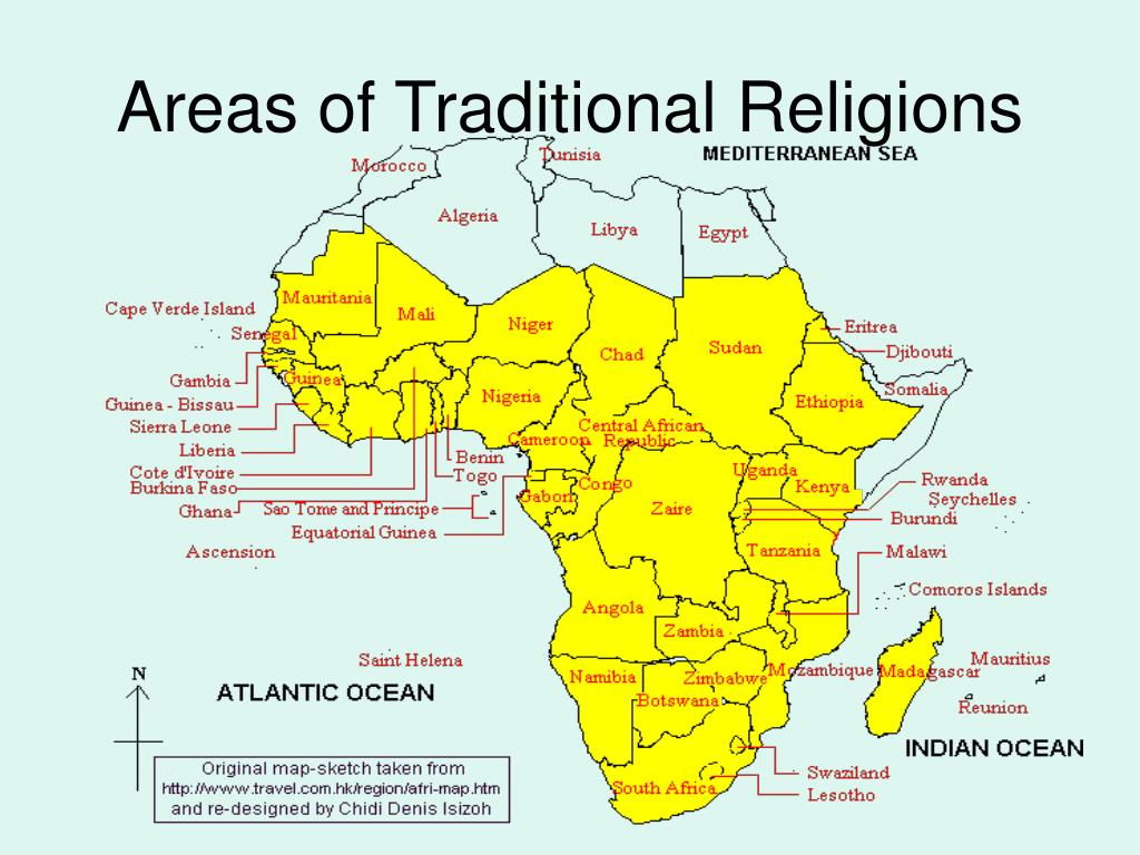 Areas of Traditional Religions