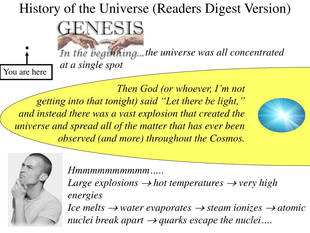 the universe was all concentrated at a single spot
