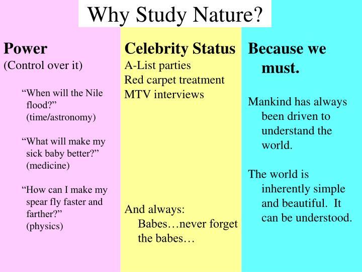 Why study nature