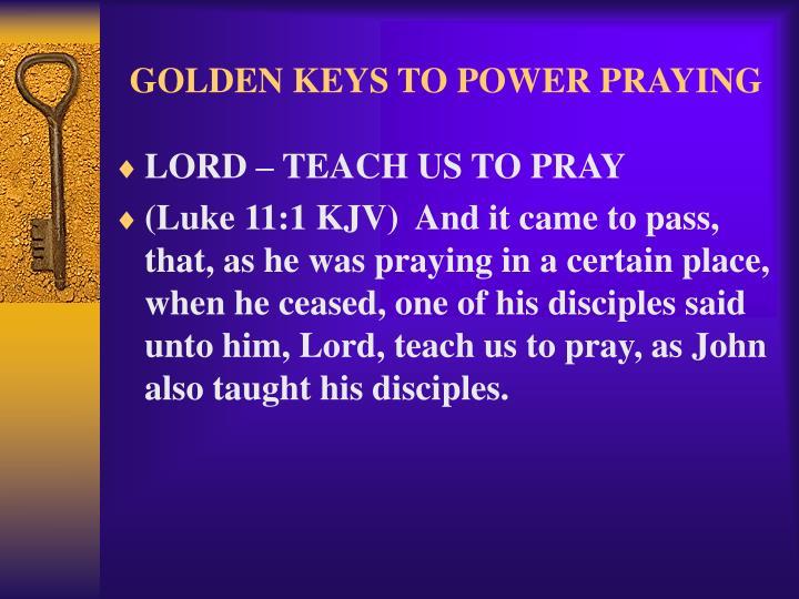 Golden keys to power praying2