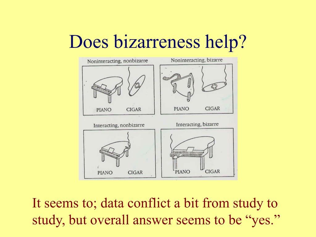 Does bizarreness help?