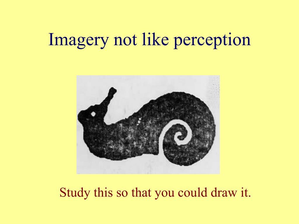 Imagery not like perception