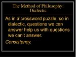 the method of philosophy dialectic22
