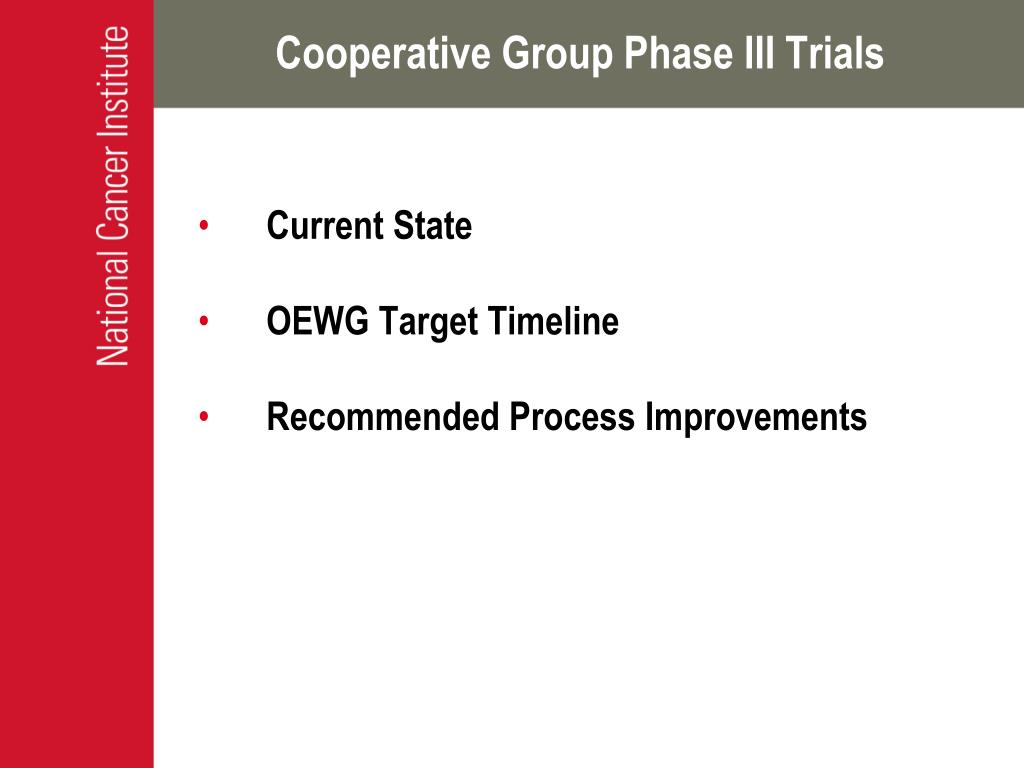 Cooperative Group Phase III Trials