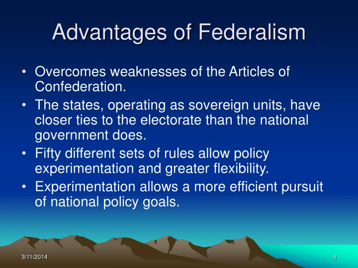 advantages of federalism
