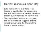 harvest workers short day