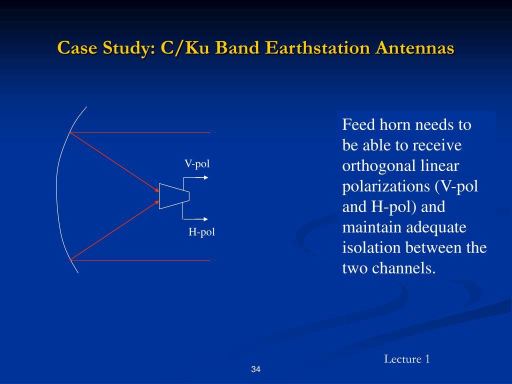 Case Study: C/Ku Band Earthstation Antennas
