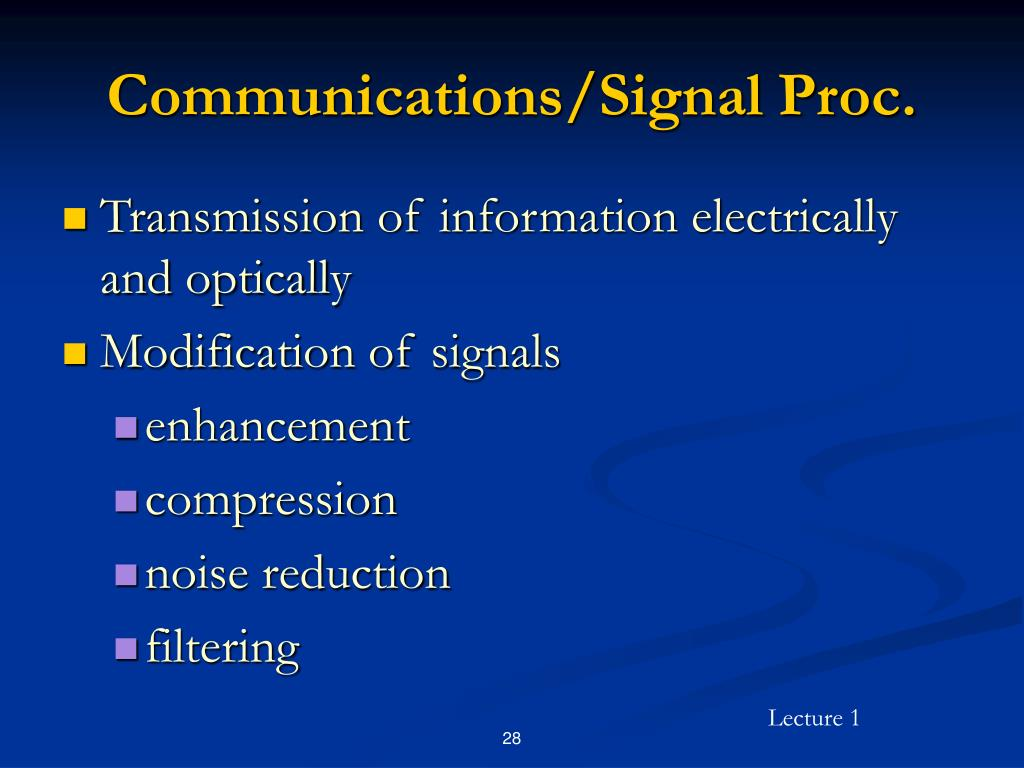 Communications/Signal Proc.