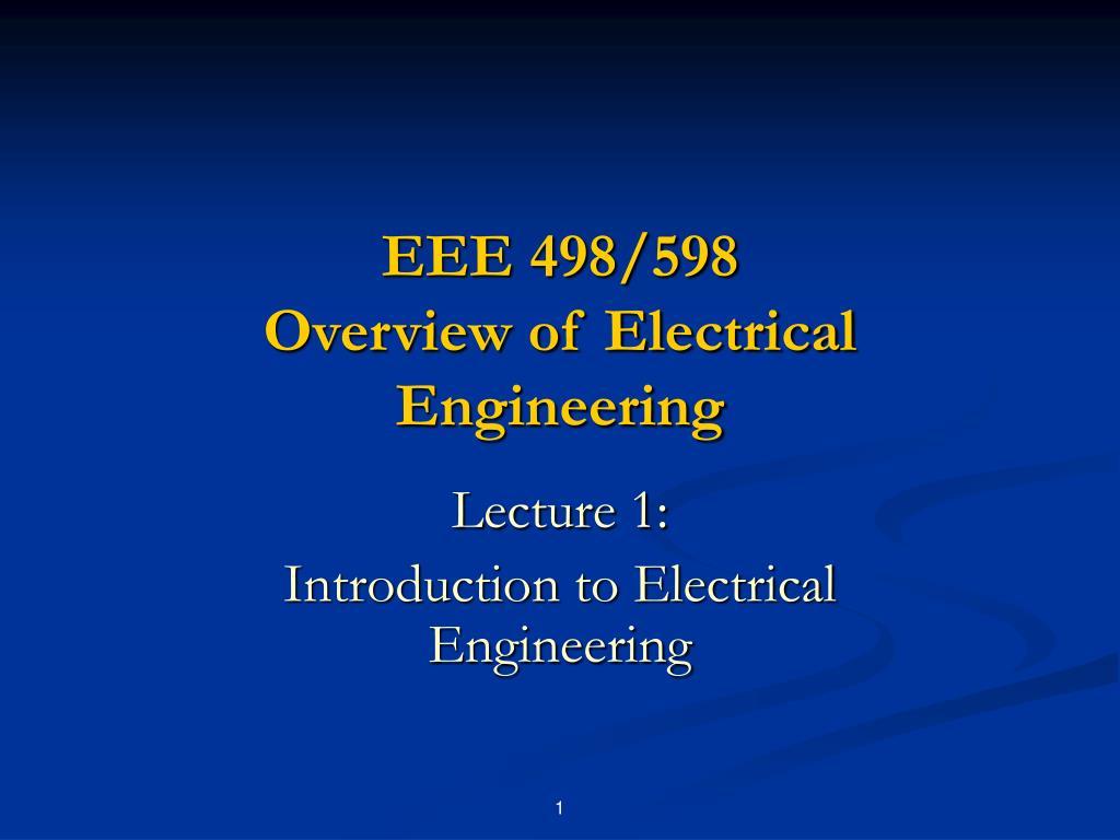 EEE 498/598