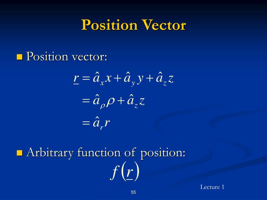 Position Vector