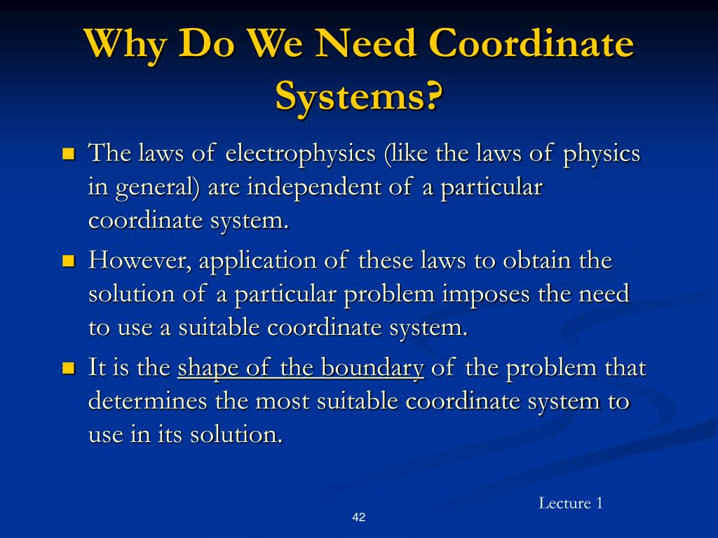 Why Do We Need Coordinate Systems?