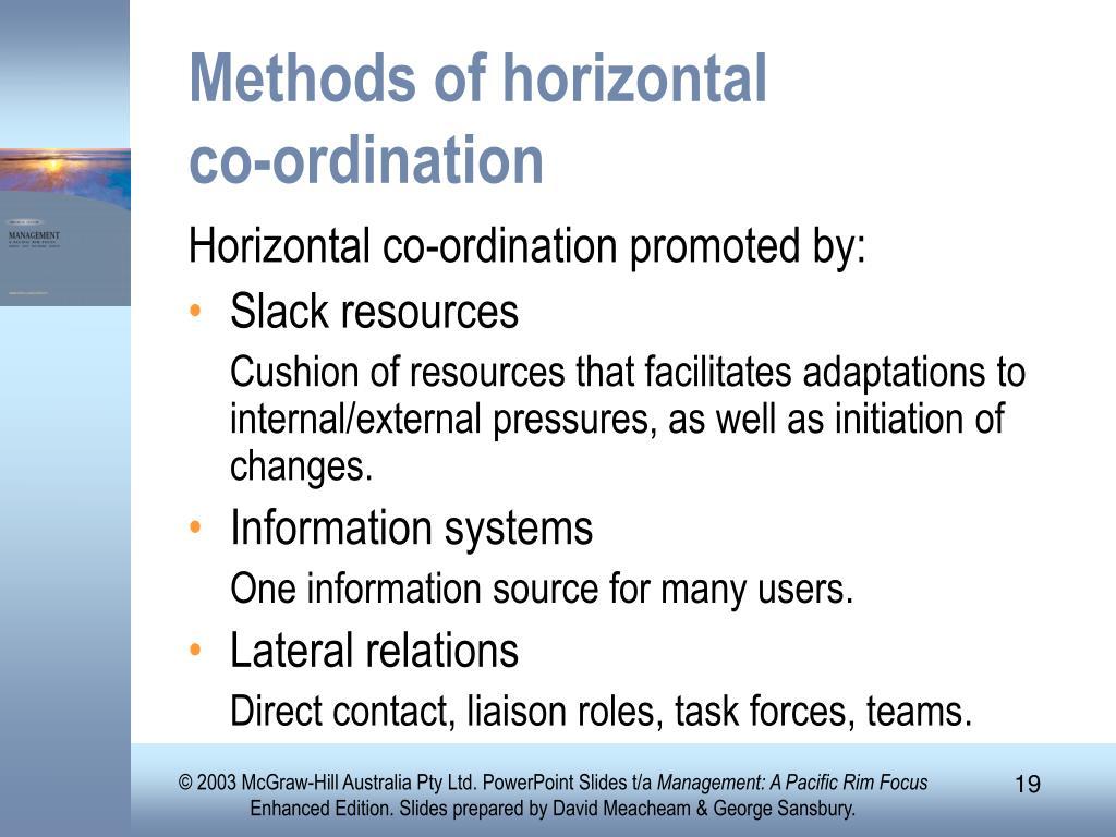 Methods of horizontal