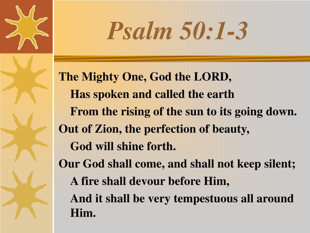 psalm 50 1 3