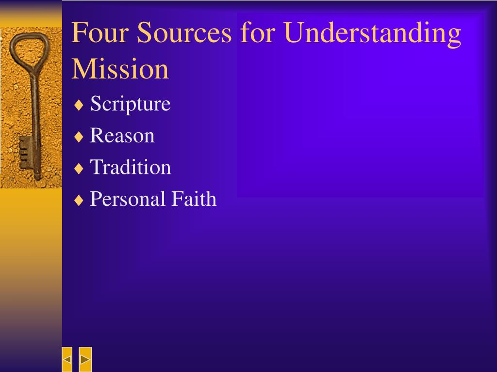 Four Sources for Understanding Mission