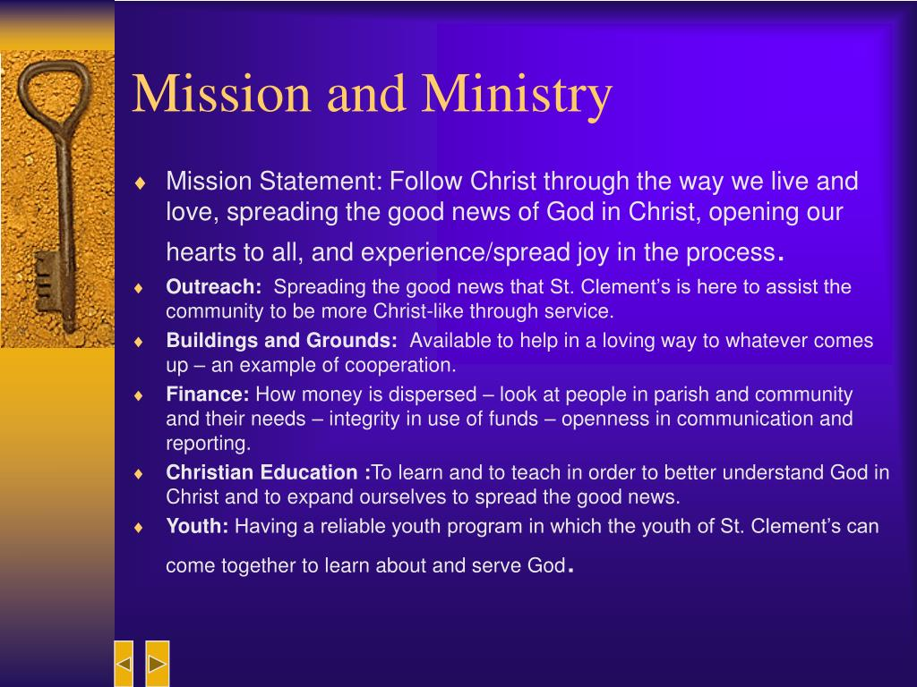 Mission and Ministry