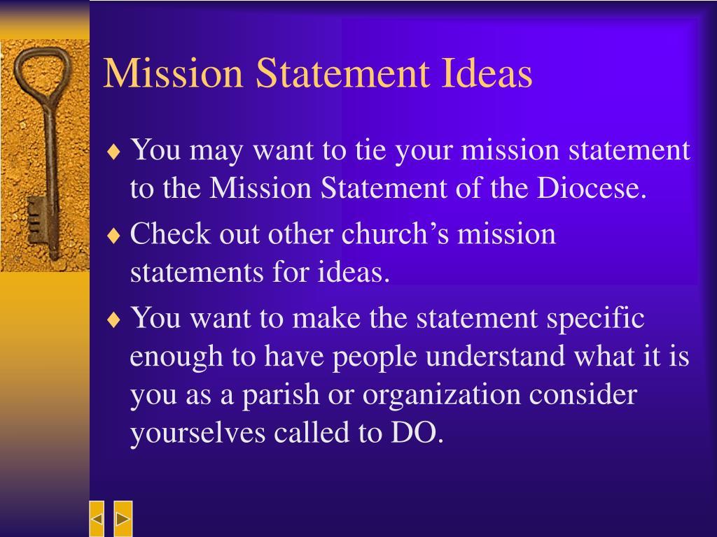 Mission Statement Ideas